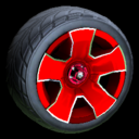 Fireplug wheel icon crimson