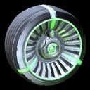 Turbine wheel icon forest green