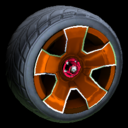 Fireplug wheel icon burnt sienna