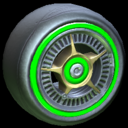 SLK wheel icon forest green