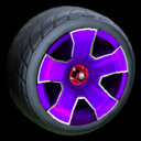 Fireplug wheel icon purple