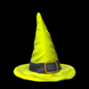 Witchs hat topper icon saffron