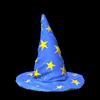 Wizard hat topper icon cobalt