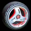 Triplex wheel icon crimson