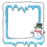 Snowman avatar border icon