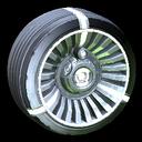 Turbine wheel icon titanium white