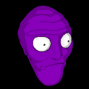 Cromulon topper icon purple