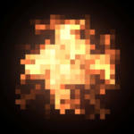 Pixel Fire rocket boost icon