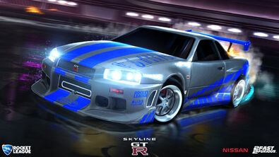 '99 Nissan Skyline GT-R R34 hero art