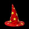 Wizard hat topper icon crimson