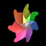 Pinwheel antenna icon