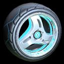 Triplex wheel icon sky blue