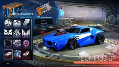 Rocket League Garage >> Dominus GT | Rocket League Wiki | FANDOM powered by Wikia