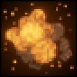 Voxel goal explosion icon