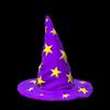 Wizard hat topper icon purple