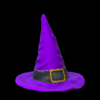 Witchs hat topper icon purple