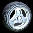 Triplex wheel icon titanium white