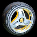 Triplex wheel icon orange