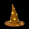 Wizard hat topper icon burnt sienna