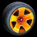 Fireplug wheel icon orange