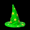 Wizard hat topper icon forest green