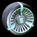 Turbine wheel icon sky blue