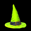 Witchs hat topper icon lime