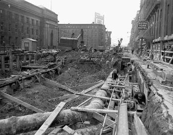 Front street excavation