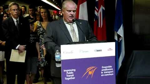 Rob Ford Introduces Brand New TTC Rocket