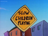 Slow Children Playing Sign (Rocko's Modern Life, Driving Mrs. Wolfe)