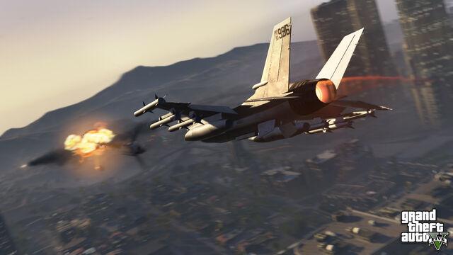 File:An Air Battle above Downtown Los Santos.jpg
