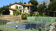 Michael playing tennis