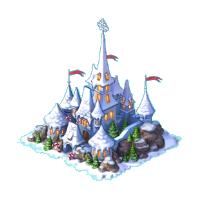 Christmas Snowy castle