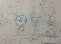 Mr. Peabody and Sherman Fan Drawing