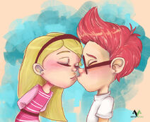 Sherman and Penny Peterson kissing fan art by asinevenisa d7785j4