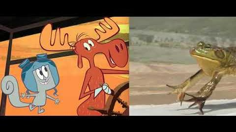 The Adventures of Rocky and Bullwinkle Jump Like A Frog Does Slow