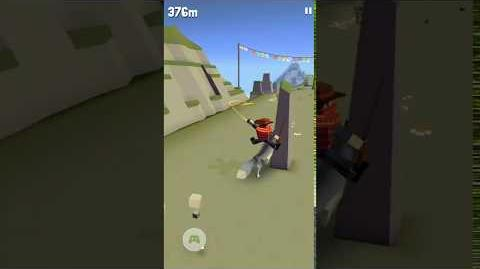 Ground perspective run in Rodeo Stampede