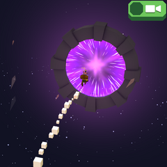 The portal through which the player is fired through
