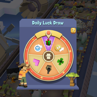 The former appearance of the Daily Luck Draw
