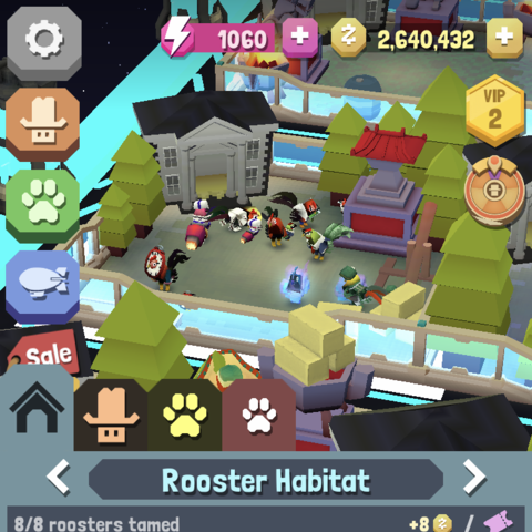 The level 9 rooster habitat