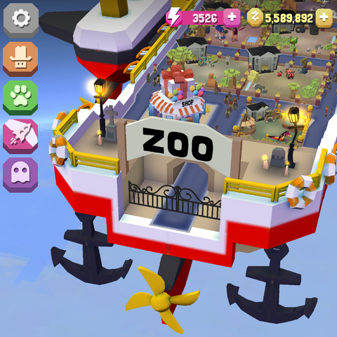 The entrance to the Sky Zoo during a Halloween event.