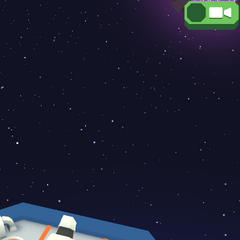 The cannon at the front of the Space Zoo.