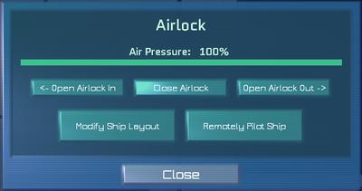 Airlock computer dialogue