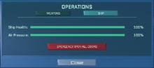 Operations Computer - Ship dialogue