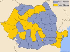Romania presidentia2004 Run-off by county