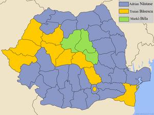 Romania-presidential-2004-by-county