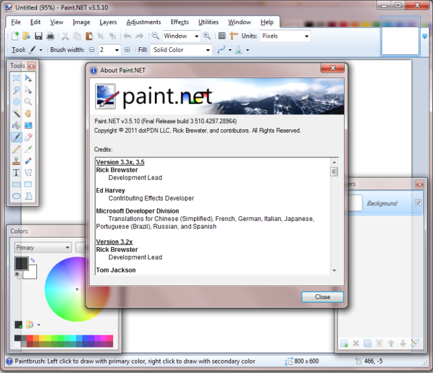 paint.net save with transparent background