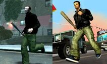 Niko bellic in claude's clothes