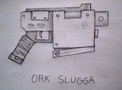 Ork Slugga by Trogglodyte