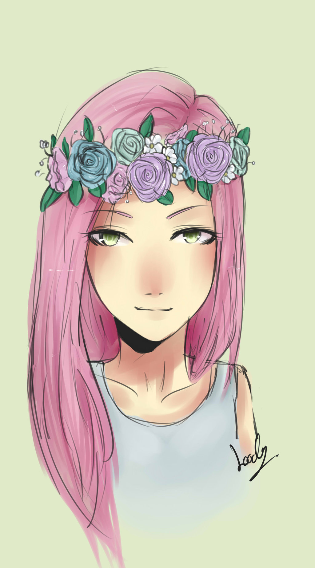 Image related girl flower crown drawing flower drawing tumblr related girl flower crown drawing flower drawing tumblr flower 164305g izmirmasajfo